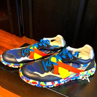 ドルチェアンドガッバーナ(DOLCE&GABBANA)の美品ドルチェ&ガッバーナD&Gスニーカー靴シューズ7ハイブリッド26マルチカラー(スニーカー)