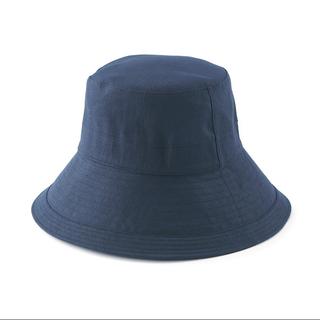 ムジルシリョウヒン(MUJI (無印良品))のUVカット フレンチリネン クロッシェ 帽子 ハット 無印良品 MUJI(ハット)