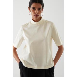 コス(COS)のCOS ボクシーモックネックトップ(Tシャツ(半袖/袖なし))