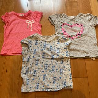 エニィファム(anyFAM)の女の子 Tシャツ 100cm 3枚セット(Tシャツ/カットソー)