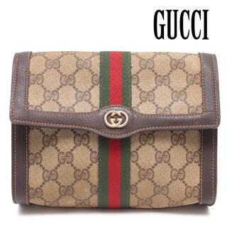 グッチ(Gucci)の希少 オールドグッチ グッチパフューム シェリーライン ポーチ クラッチバッグ(クラッチバッグ)