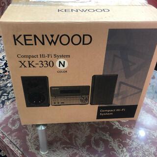 ケンウッド(KENWOOD)のケンウッド ハイレゾコンポ  XK-330-NゴールドBT対応未使用品2016(スピーカー)