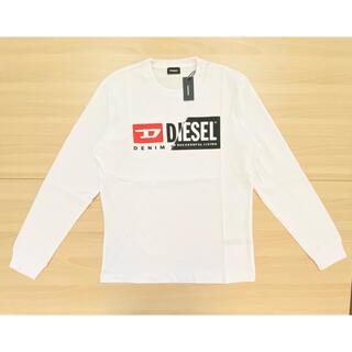 ディーゼル(DIESEL)のDIESEL T-DIEGO-LS-CUTY 長袖Tシャツ ホワイトL(Tシャツ/カットソー(七分/長袖))