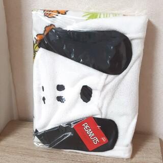 スヌーピー(SNOOPY)の新品 未使用 スヌーピー フード付きバスタオル (おくるみ/ブランケット)