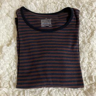 ムジルシリョウヒン(MUJI (無印良品))の無印良品 ボーダークルーネック長袖Tシャツ(Tシャツ(長袖/七分))