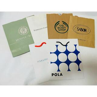 サボン(SABON)のコスメブランド ショップ袋 紙袋 ショッパー 6枚セット(ショップ袋)