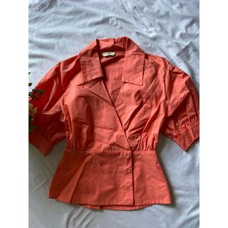 フェンディ(FENDI)の正規品フェンディパフ袖トップス FENDI 38 半袖ジャケット(シャツ/ブラウス(半袖/袖なし))