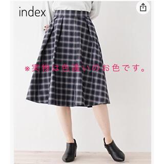 インデックス(INDEX)のindex ◆【洗える】チェックリバーシブルスカート L(ひざ丈スカート)