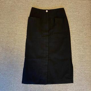 ノーブル(Noble)のNOBLE リネンスカート(ひざ丈スカート)