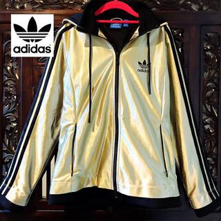 アディダス(adidas)のアディダス ゴールド ジャージ ジャケット ブルゾン 縁起物 金色 パーカー (ブルゾン)
