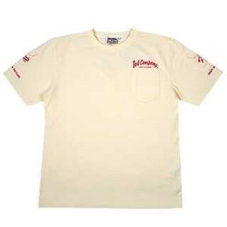 テッドマン(TEDMAN)のテッドマン/3ポケットTシャツ/ホワイト×レッド/TDSS-470(Tシャツ/カットソー(半袖/袖なし))