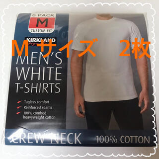 コストコ(コストコ)の新品 コストコ KIRKLAND カークランド Tシャツ 白 Mサイズ 2枚(Tシャツ/カットソー(半袖/袖なし))