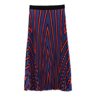エイチアンドエム(H&M)の定価5990円【新品タグ付】H&M プリーツスカート(ひざ丈スカート)