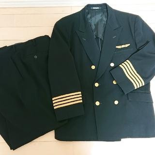 ジャル(ニホンコウクウ)(JAL(日本航空))の1970年製  旧型  JAL 日本航空 ヒツジヤ製 機長 制服上下 パイロット(航空機)