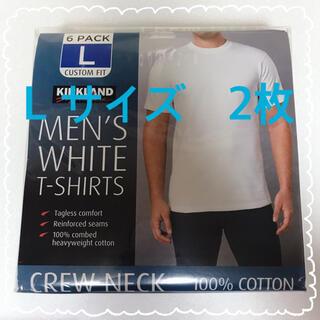 コストコ(コストコ)の新品 コストコ KIRKLAND カークランド Tシャツ 白 Lサイズ 2枚(Tシャツ/カットソー(半袖/袖なし))