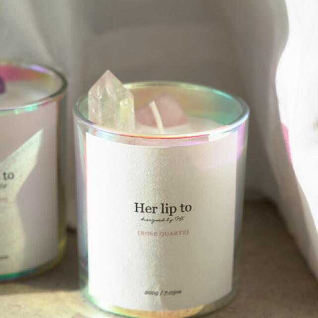 herlipto SELF LOVE CRYSTAL CANDLE コスメ/美容のリラクゼーション(キャンドル)の商品写真