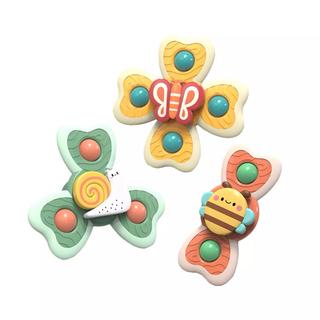 【新品】赤ちゃん 3ピース クルクル回る 吸盤付き 風呂 おもちゃ スクイグズ (お風呂のおもちゃ)