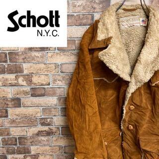 ショット(schott)の●ショット● 70s usa製 ランチコート スエード ボア ウエスタン(レザージャケット)