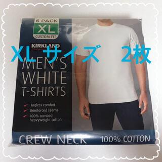 コストコ(コストコ)の新品 コストコ KIRKLAND カークランド Tシャツ 白 XLサイズ 2枚(Tシャツ/カットソー(半袖/袖なし))