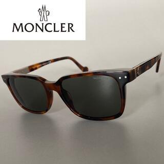 モンクレール(MONCLER)のモンクレール べっ甲 グレー メタル サングラス Leon 鼈甲 ブラウン(サングラス/メガネ)