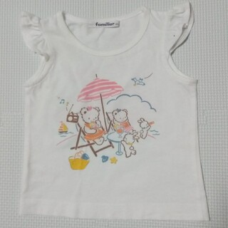 familiar - ファミリア80㎝お話しTシャツ