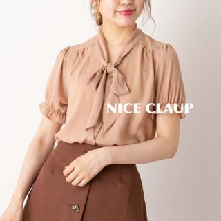 ナイスクラップ(NICE CLAUP)の新品 ナイスクラップ  ボウタイブラウス(シャツ/ブラウス(半袖/袖なし))