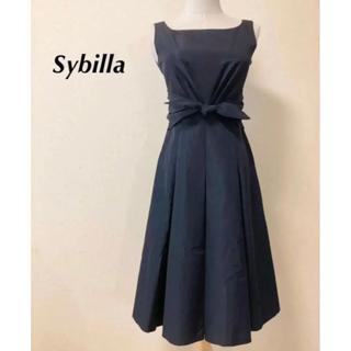 Sybilla - 美品!美シルエット タフタリボン シビラワンピース