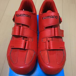 シマノ(SHIMANO)のシマノ RP3 ビンディングシューズ 赤 42E 26.5cm(ウエア)