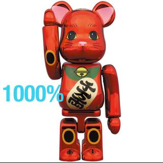 メディコムトイ(MEDICOM TOY)のBE@RBRICK ベアブリック  招き猫 梅金メッキ 1000% (その他)