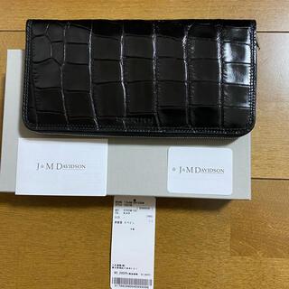 ジェイアンドエムデヴィッドソン(J&M DAVIDSON)のJ&M DAVIDSON WALLET 型押し 長財布 FELISI MARNI(財布)
