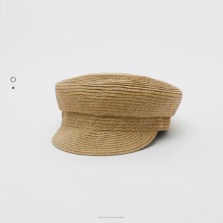 ザラ(ZARA)のザラ キャスケット 麦わら帽子(帽子)