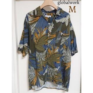 GLOBAL WORK - 美品 グローバルワーク レーヨンシャツ オープンシャツ 開襟シャツ トップス半袖