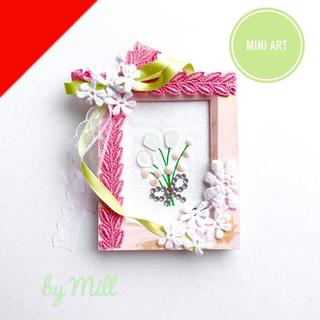 mini shell flowers シーグラスアート(アート/写真)