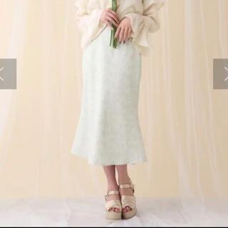 NICE CLAUP - ナイスクラップ 花柄マーメイドスカート