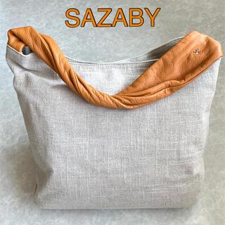 サザビー(SAZABY)のSAZABY サザビー レザーコンビ・トートバッグ(トートバッグ)