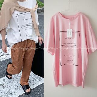 マルタンマルジェラ(Maison Martin Margiela)のMM6 メッセージ ロゴ Tシャツ オーバーサイズ カットソー エムエム6(Tシャツ(半袖/袖なし))