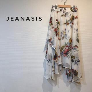 ジーナシス(JEANASIS)のJEANASISジーナス アシンメトリー フレアスカート(ひざ丈スカート)