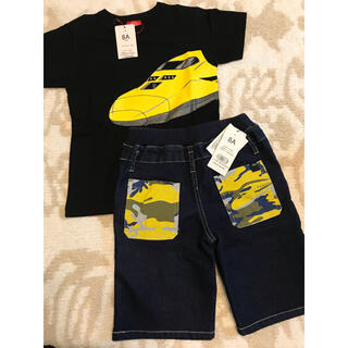 ジェイアール(JR)の新品♡オジコ Tシャツ&ハーフパンツ ドクターイエロー 8A 120 130(パンツ/スパッツ)
