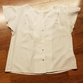 センスオブプレイスバイアーバンリサーチ(SENSE OF PLACE by URBAN RESEARCH)の専用SENSE OF PLACE フレンチスリーブブラウス 白(Tシャツ(半袖/袖なし))