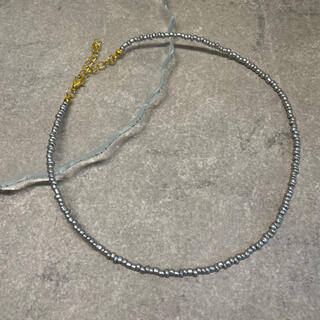 トゥデイフル(TODAYFUL)のbeads  necklace   silver necklace(ネックレス)
