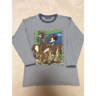 ディズニー(Disney)の90sDisney ミッキービックシルエット(Tシャツ/カットソー(七分/長袖))