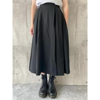 Yohji Yamamoto - ヨウジ ウールギャバ ウエストボタン ボックスプリーツスカート #[857]
