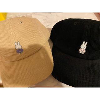 シマムラ(しまむら)のミッフィー コーディロイ 帽子 キャップ 2点セット(キャップ)