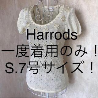 ハロッズ(Harrods)の☆Harrods/ハロッズ☆一度着用のみ☆小さいサイズ!半袖カットソーS(7号)(カットソー(半袖/袖なし))