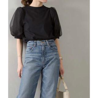 スプレイ(SpRay)のパフスリーブボリュームトップス black(Tシャツ(半袖/袖なし))