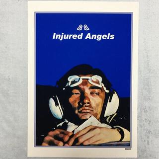 大型A3サイズ送料込ポップアート「Injured Angels」ブルー(アート/写真)