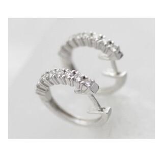 ヨンドシー(4℃)のダイヤモンド ダイヤ プラチナ ピアス フープピアス Pt(ピアス)