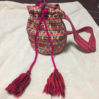 セレクトショップ インド綿編み込みバッグ(ショルダーバッグ)