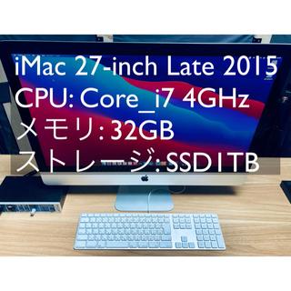 アップル(Apple)のiMac 27-inch Core_i7 4GHz 32GB SSD1TB(デスクトップ型PC)
