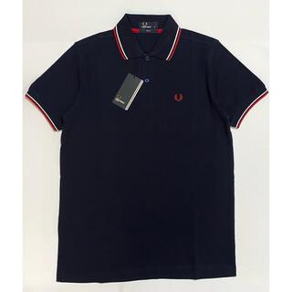 FRED PERRY - 新品未使用 フレッドペリー 刺繍 ネイビー タグ付き ポロシャツ Mサイズ